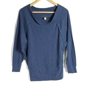 We the free blue dolman sleeve top size small